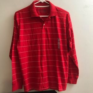 NEW OLD NAVY RED AND WHITE STRIPE SHIRT TOP BOY XL